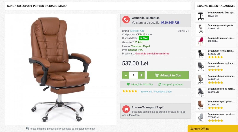 comenzi-scaune produs
