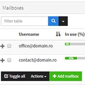 Administrare adrese de email