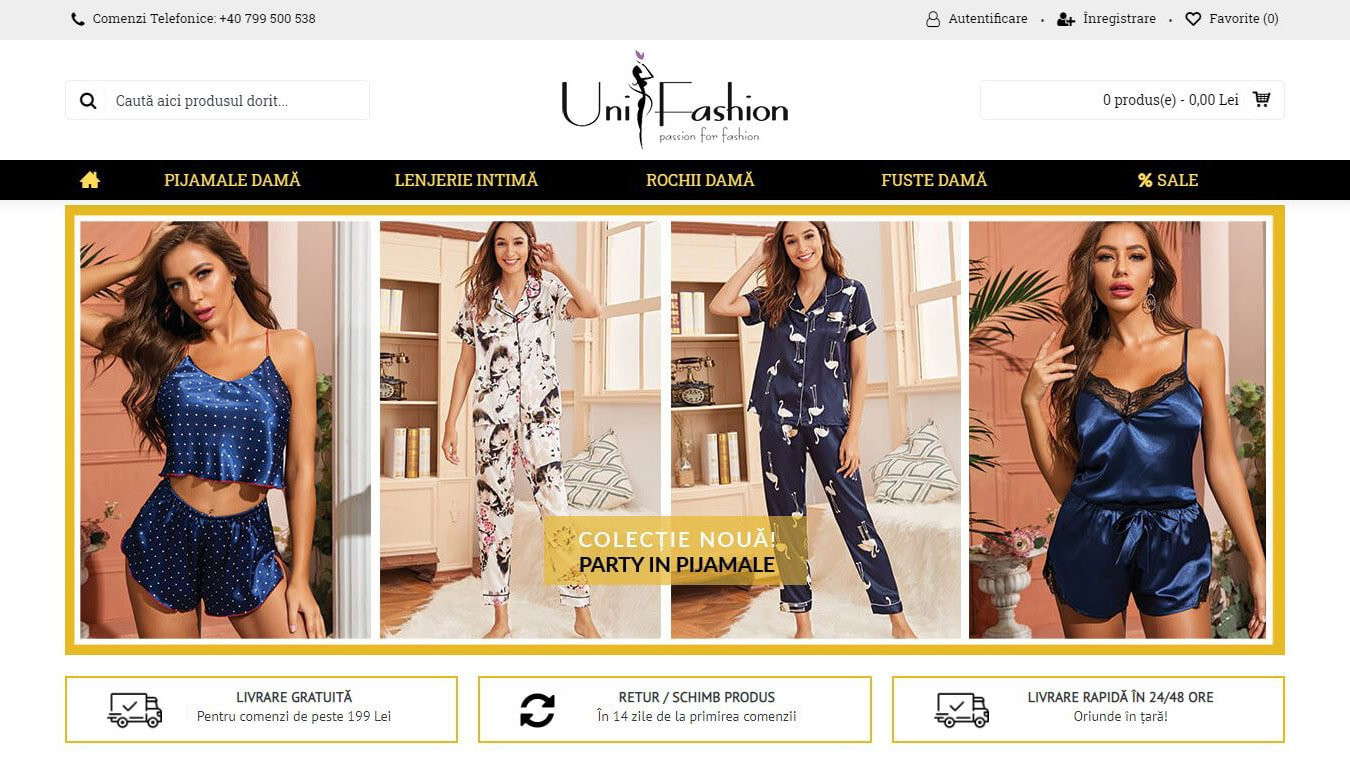 unifashion homepage