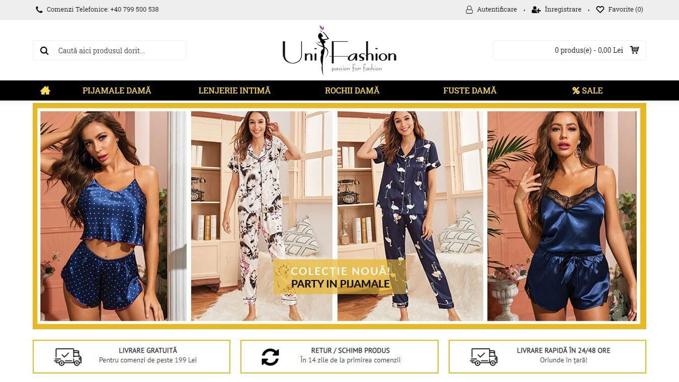 unifashion homepage